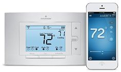 Sensi Wi-Fi Programmable Thermostat 1F86U-42WF for Smart Home, Works with Alexa