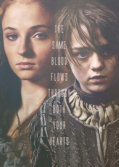 Sansa Stark and Arya Stark