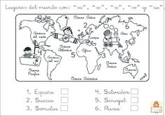 "Proyecto ""La vuelta al mundo"". Fichas para imprimir. Second Grade, Social Studies, Detective, Activities For Kids, Africa, Classroom, Study, Education, Books"
