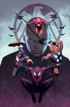 """Cover art for """"Ultimate Spider-Man #16 by Jorge Molina Manzanero"""
