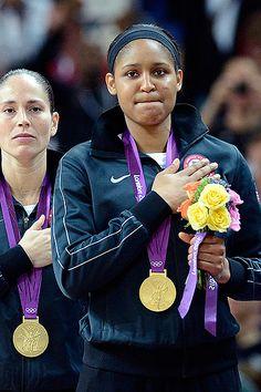 Maya Moore wins GOLD with TEAM USA playing in her first Olympics. Maya is just the 7th player to win titles in college, the WNBA, the FIBA world championship, & the Olympics.
