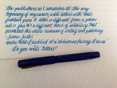 Handwritten Post - Do You Write Letters