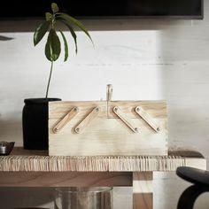 "KLÄMMEMACKA Desk organizer, natural plywood, 13 ¾x8 ¾"" - IKEA Recycling, Ikea Shopping, Pine Plywood, Sewing Baskets, Organiser Box, Thread Spools, Sewing Box, Small Storage, Desk Organization"