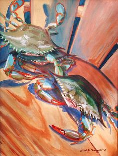 Maryland Blue Crabs Canvas Print / Canvas Art by Sarah Grangier
