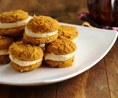 Pumpkin Whoopie Pies (Low Carb and Gluten Free) | All Day I Dream About Food
