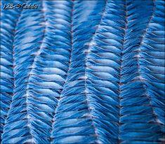 Upcycling Kissenbezug mit Chenille-Stoffmanipulation, Pillowcover, Shibori,