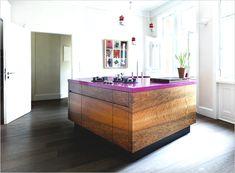 Fuchsia in the Kitchen   Rue - Love the wood floors and white walls! omGEEEEEEEEEEEEEE!!!!! I WILL do this in my home.