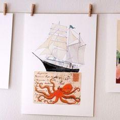 Sailing by Geninne on Etsy, $30.00