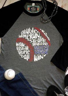 Baseball T-Shirt Raglan Baseball Team Shirt Baseball Mom Personalized Baseball Tee Baseball Words Shirt Baseball Fan Shirt Custom Baseball Yankees T Shirt, Baseball Mom, Baseball Caps, Baseball Training, Team Shirts, Custom Shirts, Trending Outfits, Etsy, Software