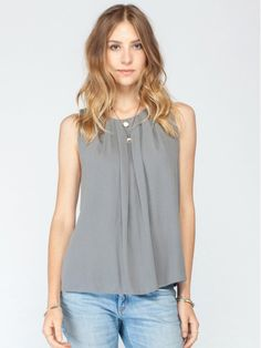 Alcott Pleated Tank