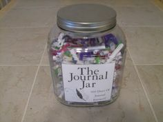 The Journal Jar: A Years' worth of Journal ideas and entries, never be stumped about what to write about again, and also get motivated to start writing!