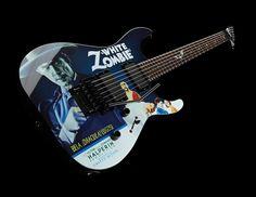 ESP LTD KH White Zombie Graphic, Kirk Hammett signature electric guitar with Bela Lugosi design