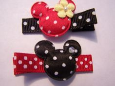 Boutique Mouse Hair Clippies, Disney Crafts