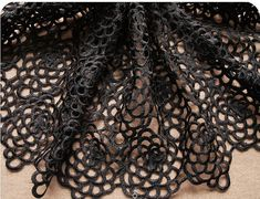 ==> [Free Shipping] Buy Best Black Lace Fabric venise  vintage retro floral costume lace fabric by the yard 10yards Online with LOWEST Price | 32668223645