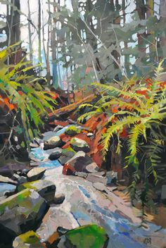 Canadian painter Randy Hayashi is a featured artist at the mountain galleries at the fairmont. Watercolor Landscape, Abstract Landscape, Landscape Paintings, Watercolor Paintings, Canadian Painters, Canadian Artists, Environmental Art, Art Techniques, Oeuvre D'art