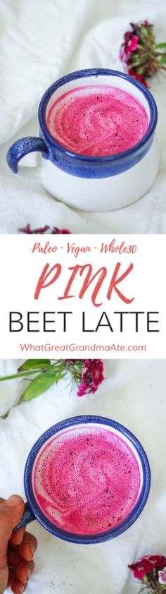 Pink Beet Latte - what great grandma ate