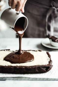 Sweet Desserts, Sweet Recipes, Dessert Recipes, Healthy Cookies, Healthy Sweets, Chocolate Ganache, Chocolate Desserts, Coconut Brownies, Food Obsession