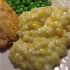 "Cream Corn Like No Other.""This is NOTHING like canned creamed corn! Easy and quick to prepare and is an especially delicious side dish for chicken or pork. Everyone always asks for the recipe. Side Dishes For Chicken, Vegetable Side Dishes, Cream Corn Like No Other Recipe, Side Dish Recipes, Vegetable Recipes, Great Recipes, Favorite Recipes, Over The Top, I Love Food"