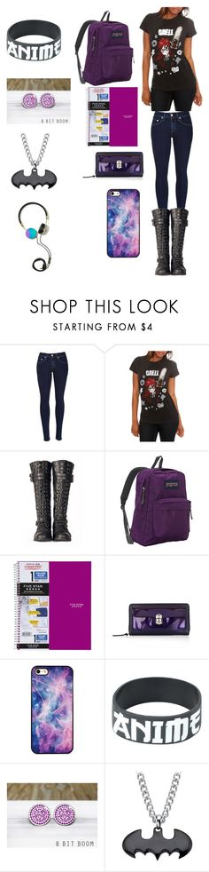 """""""Creepypasta: What my own character would wear to school"""" by ender1027 ❤ liked on Polyvore featuring rag & bone, ELSE, Retrò, JanSport, Five Star, Balenciaga, BlissfulCASE, Hot Topic, Sebastian Professional and Frends"""