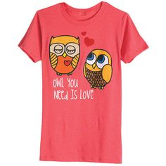 Owl You Need Is Love Tee ❤ liked on Polyvore