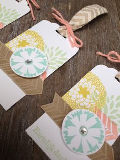 Margriet Creatief, stampin' up!, petal parade, scalloped tag topper punch, tag