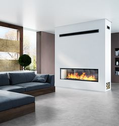 The Axis H1600XXL DS double sided inbuilt wood fireplace takes the title for being Australia's largest double sided inbuilt wood heater with its large glass