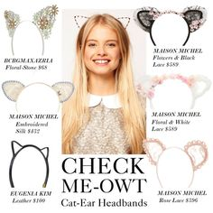 """Check Me-Owt: Cat-Ear Headbands"" by polyvore-editorial on Polyvore"