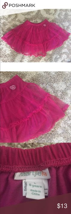 Naartjie Kids Pink Tulle Ruffle Tiered Skirt Naartjie Kids Pink Tulle Ruffle Tiered Skirt Jie Jie  Size 6 Years Large Girls  100% cotton Preowned naartjie Bottoms Skirts