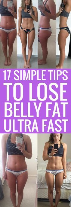 17 lazy ways to lose unwanted fat, especially around the stomach.