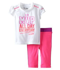 d1973cf7 Under Armour Kids MVP Tee Set (Infant) Sporty Outfits, Twin Outfits, Girl