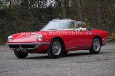 Maserati Mistral 3500 Spider 1965 a succédé à l'emblématique 3500 GT Mercedes Classic Cars, Bmw Classic Cars, Maserati, Ferrari California, Classic Sports Cars, Turin, Shelby Gt500, Vintage Cars, Classic Style
