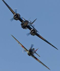 Bristol Blenheim and a Hawker Hurricane