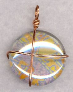 good visual on how to make flat back marbles into pendants Marble Jewelry, Wire Jewelry, Jewelry Crafts, Jewelery, Jewelry Ideas, Flat Marbles, Hand Stamped Jewelry, Wire Art, Glass Pendants