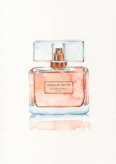 Perfume bottle illustrations on Behance Bottle Drawing, Bottle Painting, Bottle Art, Makeup Illustration, Watercolor Illustration, Japanese Illustration, Chanel Art, Watercolor Paintings For Beginners, Fashion Wall Art