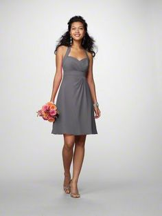 Alfred Angelo bridesmaid dress style 7172 in charcoal