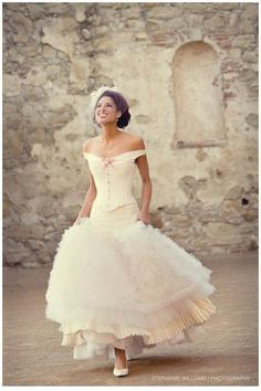 Wedding Dress Inspiration with a Corseted Twist and a gorgeous setting