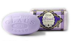 """Lafco New York Claus Porto Royal (Iris Lavender) 12.3 oz Bar Bath Soap by Lafco New York. $26.00. Lafco New York Claus Porto soaps were featured on Oprah on her """"Favorite Things"""" episode in 2007. Each bar starts with 100% vegetable soap base and pure, skin-softening shea butter. Next, the finest fragrances from the south of France are mixed in so that the scent lasts until the very end of the bar. All of these ingredients are then milled seven times in the traditional ..."""