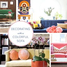 12 Ideas for Decorating with a Colorful Sofa