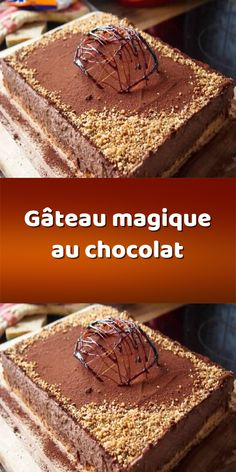 Chocolate Magic Cake Discover the easiest and delicious recipe of magic chocolate cake, a great idea for quick and light dessert. Magic Chocolate Cake, Easy Chocolate Desserts, Fall Desserts, 3 Ingredient Desserts, Cake Recipes, Dessert Recipes, Keto Dessert Easy, Dessert Healthy, Keto Cheesecake