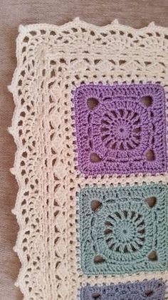 Ravelry: Sharon Blignaut's Bohemian Blanket. I like the edging.