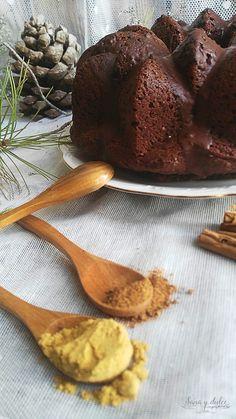 bundt cake integral de chocolate y jengibre