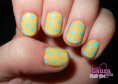 Summer Polka Dot Nails! So cute & easy! :)