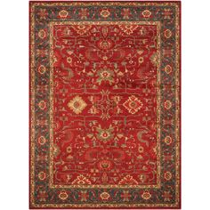 Classic Persian motifs that have graced elegant rooms for centuries are celebrated in richly colored Mahal collection rugs. Power-loomed of long-wearing and easy-care polypropylene yarn, these elaborately detailed rugs are suitable for high traffic a Persian Motifs, Persian Rug, Ancient Persian, Navy Rug, Accent Rugs, Joss And Main, Blue Area Rugs, Rug Size, Size 2