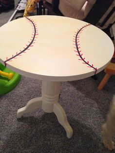 The Organized Mama: Transforming A Table For A Big Boy Room
