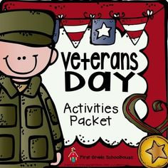 Veterans Day by First Grade Schoolhouse $3.50