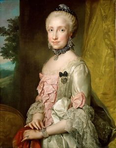 https://flic.kr/p/PDSLKs   Infanta Maria Ludovica, Wife of Leopold II   c. 1764/1765. Oil on canvas. 84,5 x 65 cm. Kunsthistorisches Museum Wien, Gemäldegalerie, Vienna. 1644.