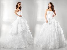 Este hermoso vestido de novia es  adecuado para una boda con estilo. Seguro que encontrarás entre los modelos creados por Elena Reynoso, tu  vestido ideal.