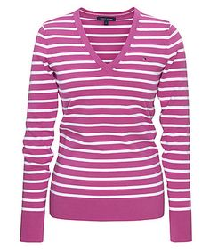 Tommy Hilfiger Pullover  #stripes  #v-neck  www.fashion.engelhorn.de