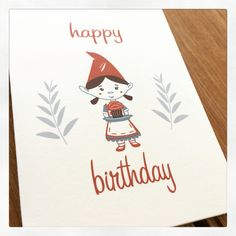 Birthday girl note card from giant gnome paper co