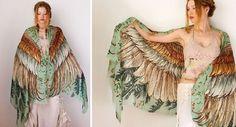 Roza Kamitova'nın Kuşlardan İlham Alan Eşarp Şal Tasarımları | Tasarım Harikası